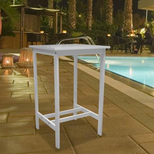 Bradley Outdoor Wood Rectangular Bar Table