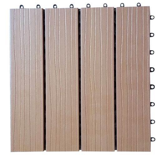 12 x 12 Eco-Friendly Wood-Plastic Composite Interlocking Decking Tile - Cedar