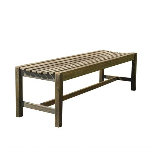 VIFAH Manufacturing Company Renaissance Eco-friendly 5-foot Backless Outdoor Hand-scraped Hardwood Garden Bench