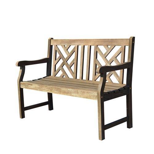 Renaissance Eco-friendly 4-foot Outdoor Hand-scraped Hardwood Garden Bench