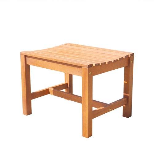 VIFAH Manufacturing Company Malibu Eco-friendly Outdoor Hardwood Garden Backless Chair