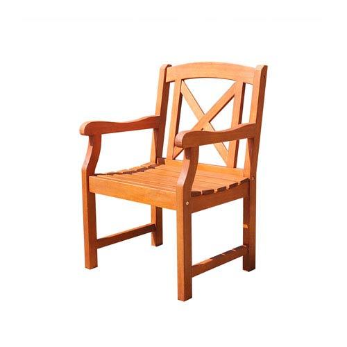VIFAH Manufacturing Company Malibu Eco-friendly Outdoor Hardwood Garden Arm Chair