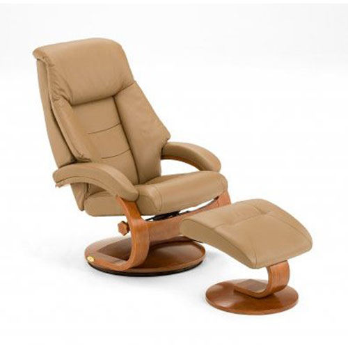 Mac Motion Chairs Sand (Tan) Top Grain Leather Swivel, Recliner With  Ottoman 58 LO3 24 103 B ...