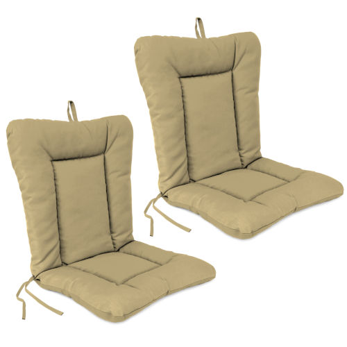 21 x 38 Inches Outdoor Chair Cushions, Set of Two