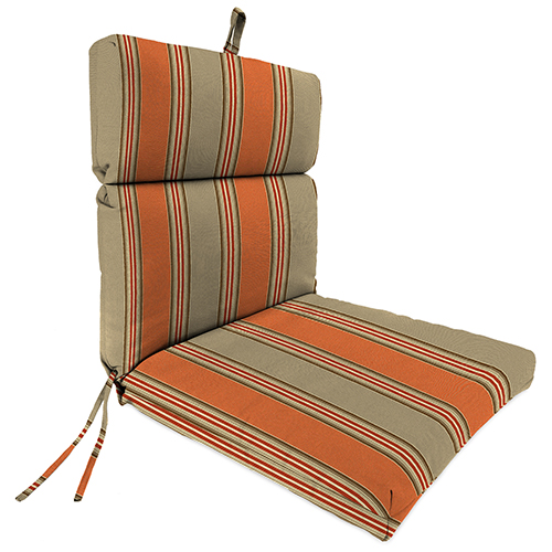 Passage Poppy Stripe 22-Inch x 44-Inch x 4-Inch Outdoor Chair Cushion- 1-Pack