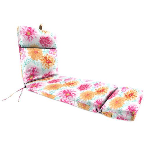 Gardenia Bloom Chaise Lounge Cushion