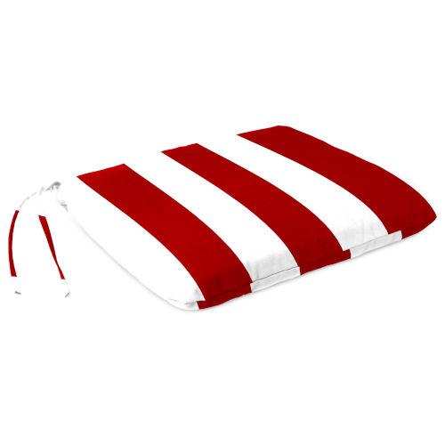 Cabana Stripe Red Outdoor Monoblock Seat Cushion