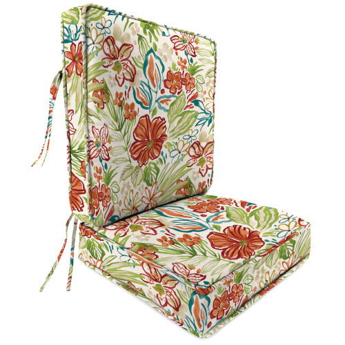 Covert Stripe Breeze 22 x 24 Inches Two-Piece Deep Seat Chair Cushion