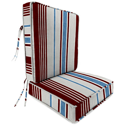 Bacall Stripe Berry Outdoor Chair Cushion