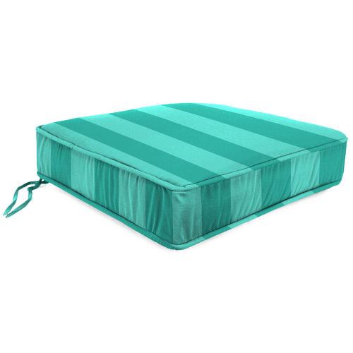 Preview Stripe Lagoon Outdoor Boxed Edge Deep Seat Cushion