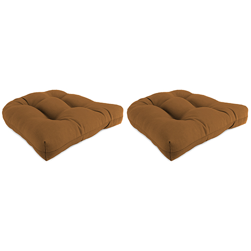 Canvas Cork 18-Inch x 18-Inch x 4-Inch Outdoor Wicker Chair Cushions- Set of Two