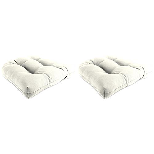 Sailcloth Salt Rain 18-Inch x 18-Inch x 4-Inch Outdoor Wicker Chair Cushions- Set of Two