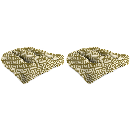 18-Inch x 18-Inch x 4-Inch Outdoor Wicker Chair Cushions- Set of Two