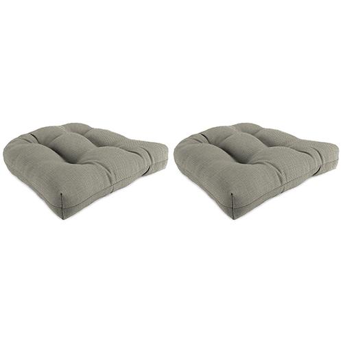 Hybrid Smoke 18-Inch x 18-Inch x 4-Inch Outdoor Wicker Chair Cushions- Set of Two