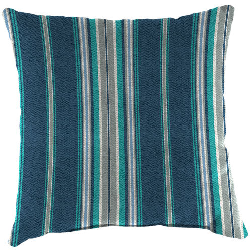 Terrace Stripe Caribe Outdoor Square Toss Pillow