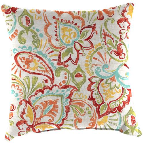 Mallitta Papaya Outdoor Square Toss Pillow