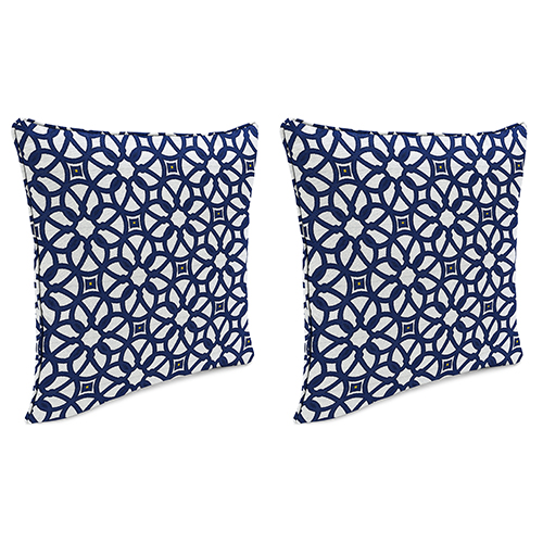 18-Inch x 18-Inch Outdoor Toss Pillows with Welt- Set of 2