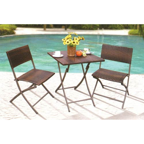 Jordan Manufacturing Company Canyon Three Piece Square Wicker Bistro Set