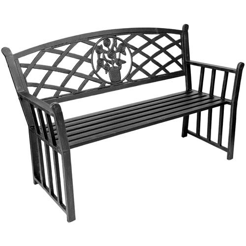 Jordan Manufacturing Company Steel Benches Black Bouquet Park Bench