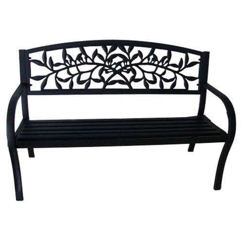 Steel Benches Black Vine Park Bench