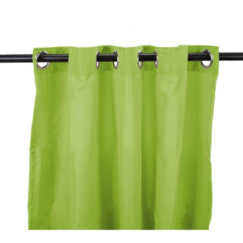 Outdoor Curtains 54-Inch x 84-Inch Kiwi Solid Polyester Outdoor Curtain