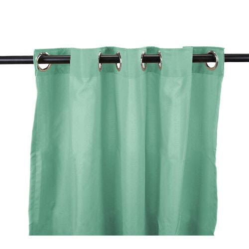 Jordan Manufacturing Company Outdoor Curtains 54-Inch x 84-Inch Spa Solid Polyester Outdoor Curtain