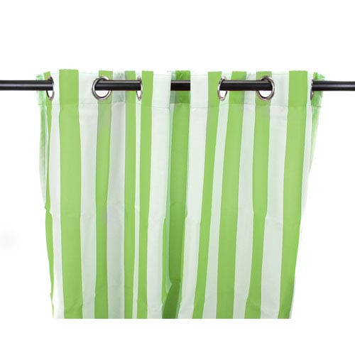 Jordan Manufacturing Company Outdoor Curtains 54-Inch x 84-Inch Kiwi Stripe Polyester Outdoor Curtain