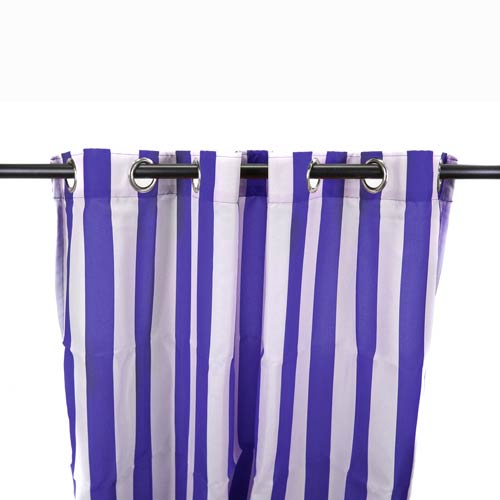 Admiral Stripe 54-Inch Outdoor Curtain Panel