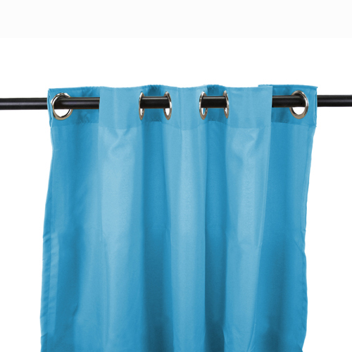 Caribbean Blue 54-Inch Outdoor Curtain Panel