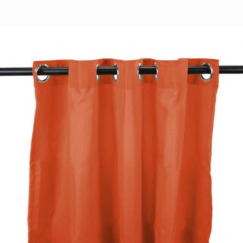 Tangerine 54-Inch Outdoor Curtain Panel