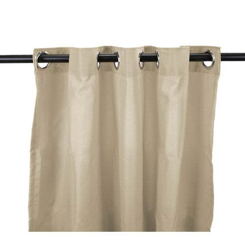 Outdoor Curtains 54-Inch x 96-Inch Linen Solid Polyester Outdoor Curtain