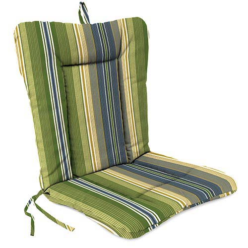 Jordan Manufacturing Company Calista Stripe Delft Wrought Iron Chair Cushion