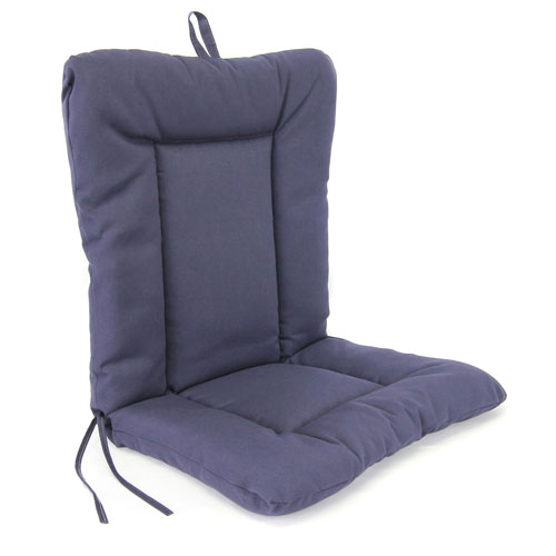 Jordan Manufacturing Company Navy Euro Style Chair Cushion