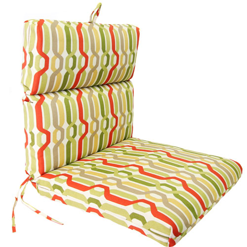 Jordan Manufacturing Company Seaweed Twist Pattern Universal Chair Cushion with French Edge