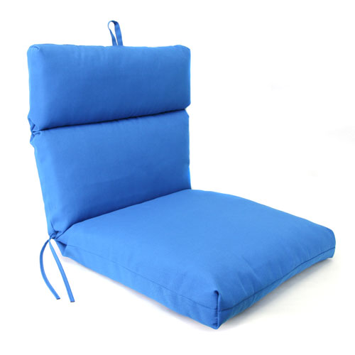 Jordan Manufacturing Company Pacific Blue Universal Chair Cushion with French Edge