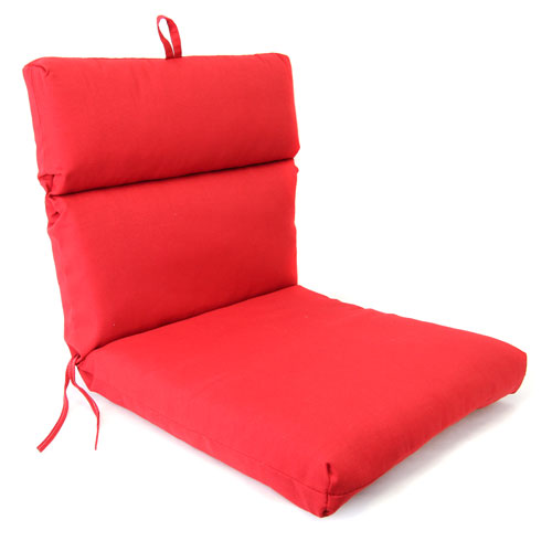 Jordan Manufacturing Company Pompei Red Universal Chair Cushion with French Edge