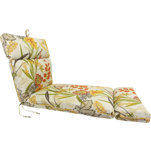 Jordan Manufacturing Company Seaweed Pattern Universal Chaise Cushion with French Edge
