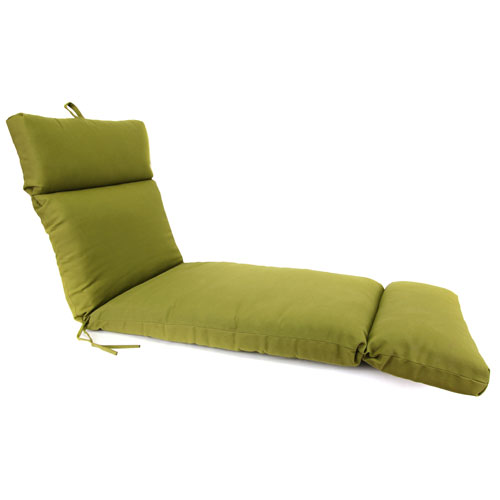 Olive Universal Chaise Cushion with French Edge