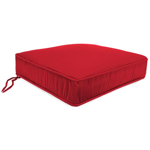 Jordan Manufacturing Company Canvas Jockey Red Boxed Seat Cushion