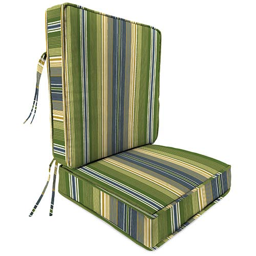 Jordan Manufacturing Company Calista Stripe Delft Deep Seat Chair Cushion