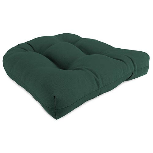 Forest Green Wicker Seat Cushion