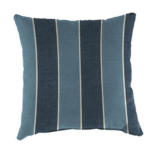 Jordan Manufacturing Company Wickenburg Indigo 18-Inch Square Toss Pillow