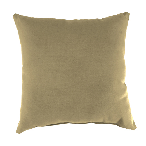 Jordan Manufacturing Company Canvas Heather Beige 18-Inch Square Toss Pillow