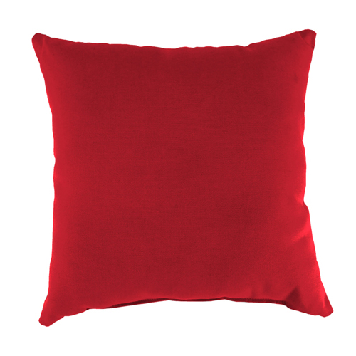 Canvas Jockey Red Square Toss Pillow