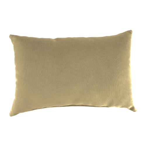 Jordan Manufacturing Company Canvas Heather Beige Rectangle Toss Pillow