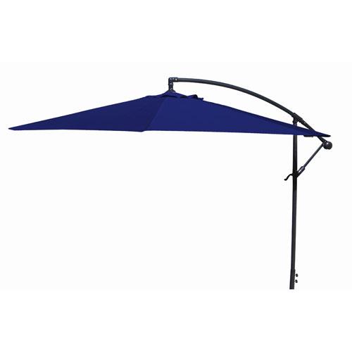 Jordan Manufacturing Company Offset Umbrellas Navy 10-Foot Steel Offset Umbrella