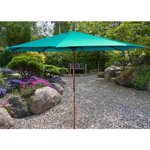 Aruba 9-Foot Wooden Market Umbrella