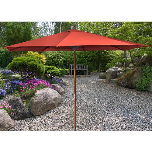 Melon 9-Foot Wooden Market Umbrella