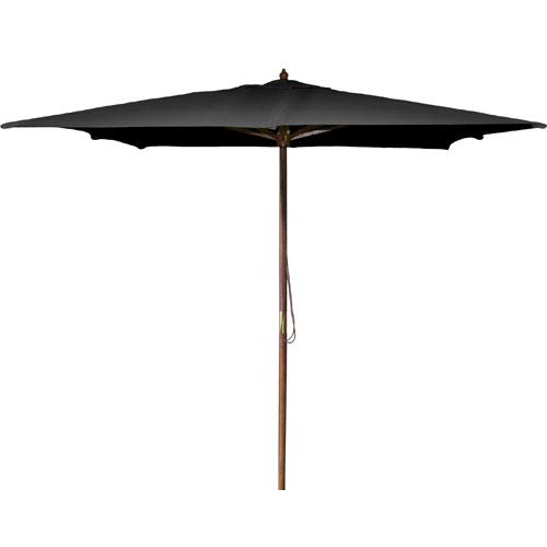 Square Market Umbrellas Black 8.5-Foot Square Wood Umbrella