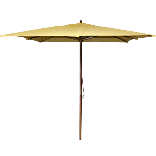Square Market Umbrellas Canary 8.5-Foot Square Wood Umbrella